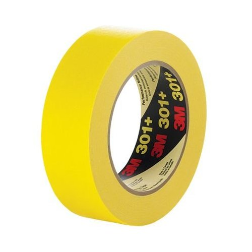 3M Scotch Masking Tape 301+ 3/4 inch x 60 yd Yellow 301+34