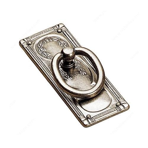Richelieu Art Deco 3-13/16 Inch Diameter Faux Iron Cabinet Ring Pull 12233904