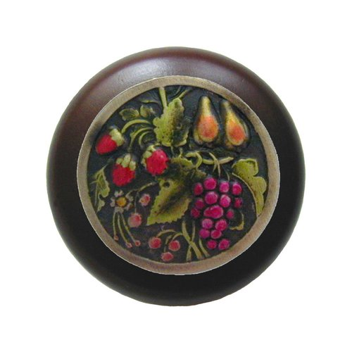 Notting Hill Tuscan 1-1/2 Inch Diameter Brass Hand Tinted Cabinet Knob NHW-713W-BHT