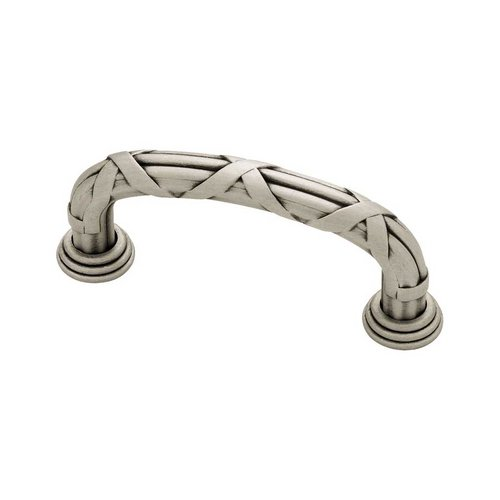 Liberty Hardware French Romantics 3 Inch Center to Center Brushed Satin Pewter Cabinet Pull PN1517-BSP-C