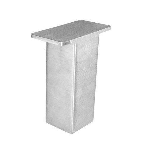 """Federal Brace The Plaza Countertop Post Support 5"""" High - Brushed Stainles 31536"""