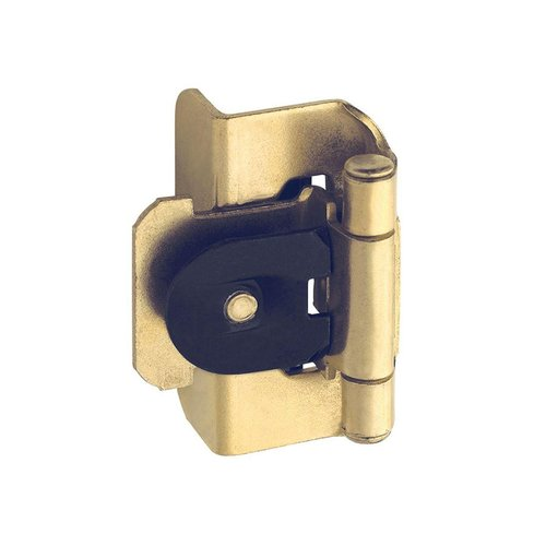 "Amerock Double Demountable 1/2"" Overlay Hinge Polished Brass- Pair BPBP87043"