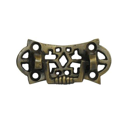 Gado Gado Bail Pulls 1-1/4 Inch Center to Center Unlacquered Antique Brass Cabinet Bail Pull HBA7006