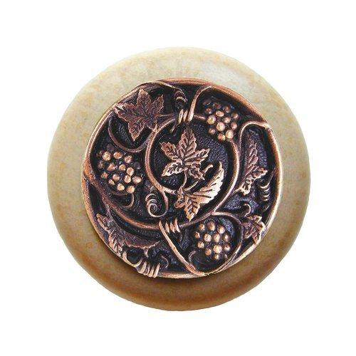 Notting Hill Tuscan 1-1/2 Inch Diameter Antique Copper Cabinet Knob NHW-729N-AC