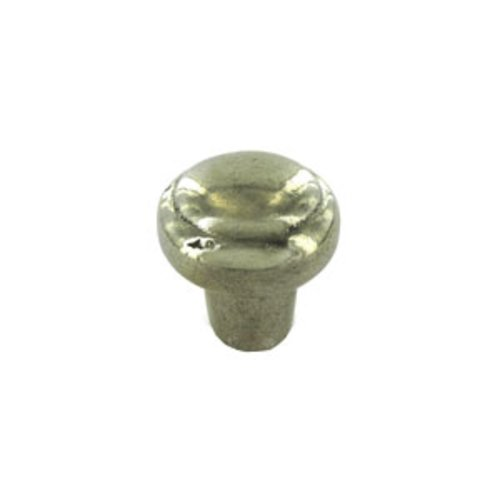Schaub and Company Ovale Designs 1-3/8 Inch Diameter Polished White Bronze Cabinet Knob 781-PWB