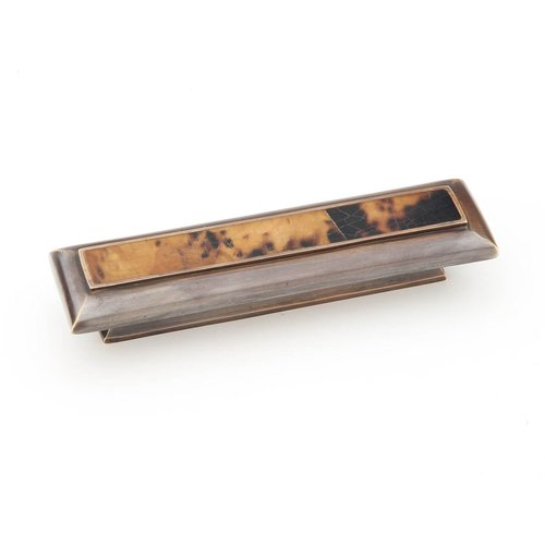 Schaub and Company Tiger Penshell 3 Inch Center to Center Tiger Penshell/Dark Antique Bronze Cabinet Pull 819-PENDAB