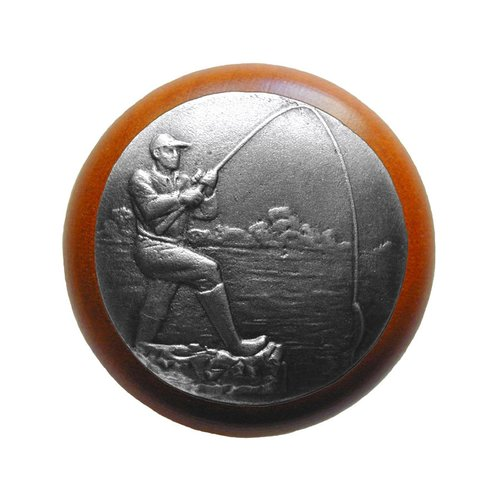 Notting Hill Great Outdoors 1-1/2 Inch Diameter Antique Pewter Cabinet Knob NHW-707C-AP