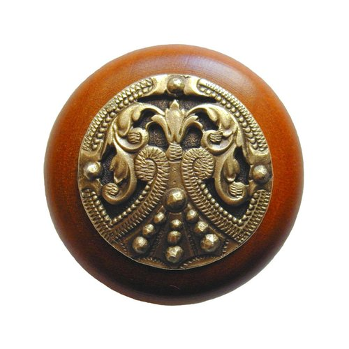 Notting Hill Olde Worlde 1-1/2 Inch Diameter Antique Brass Cabinet Knob NHW-701C-AB