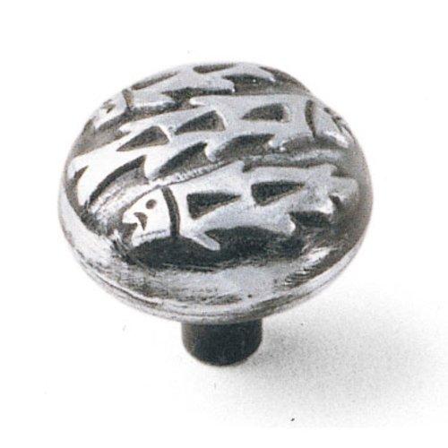 Laurey Hardware Native Romance 1-1/2 Inch Diameter Silverado Cabinet Knob 53660