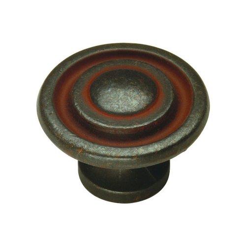 Hickory Hardware Manchester 1-3/8 Inch Diameter Rustic Iron Cabinet Knob P2011-RI