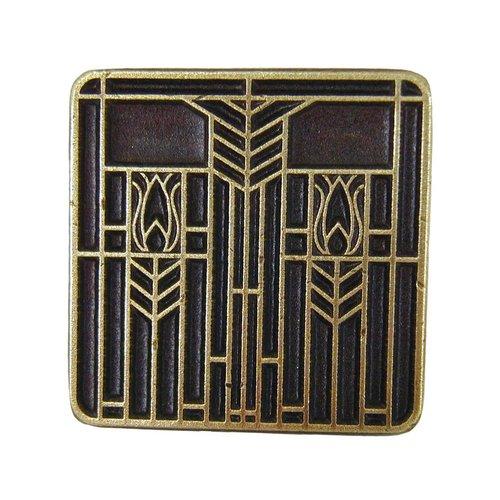 Notting Hill Arts & Crafts 1-1/4 Inch Diameter Antique Brass Cabinet Knob NHK-117-AB