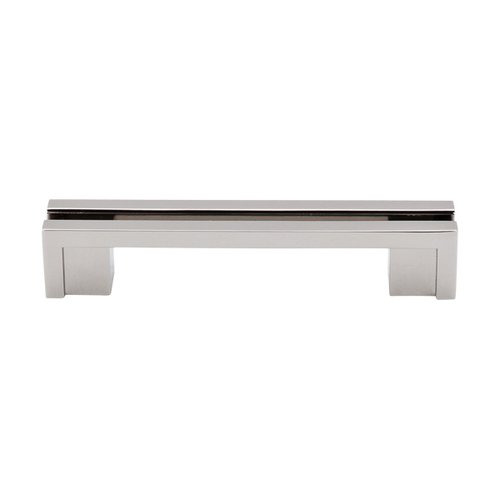 Top Knobs Sanctuary 3-1/2 Inch Center to Center Polished Nickel Cabinet Pull TK55PN