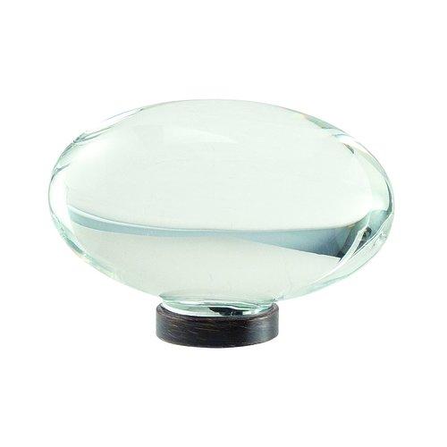 "Amerock Glacio Knob 1-3/4"" Dia Clear Crystal/Oil Rubbed Bronze BP36651CORB"