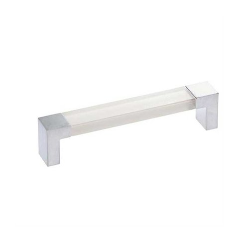 Hickory Hardware Mito 5-1/16 Inch Center to Center Satin Pearl & Frost Cabinet Pull P3695-SPF