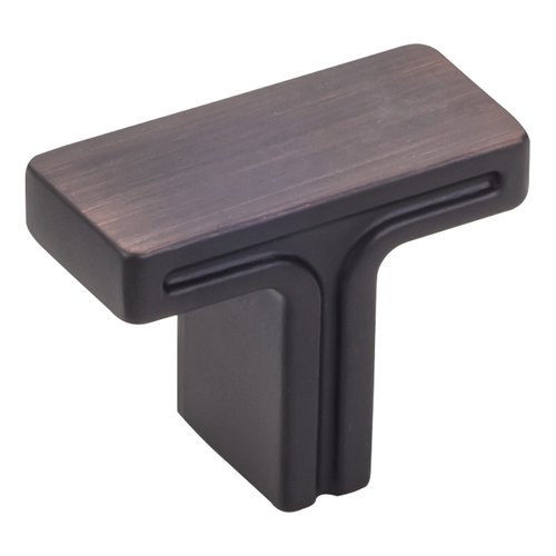 "Jeffrey Alexander Anwick Cabinet Knob 1-3/8"" L - Brushed Oil Rubbed Bronze 867DBAC"