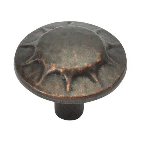 Hickory Hardware Clover Creek 1-1/4 Inch Diameter Dark Antique Copper Cabinet Knob P3562-DAC