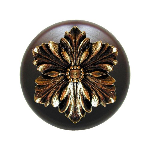 Notting Hill Classic 1-1/2 Inch Diameter Brite Brass Cabinet Knob NHW-725W-BB