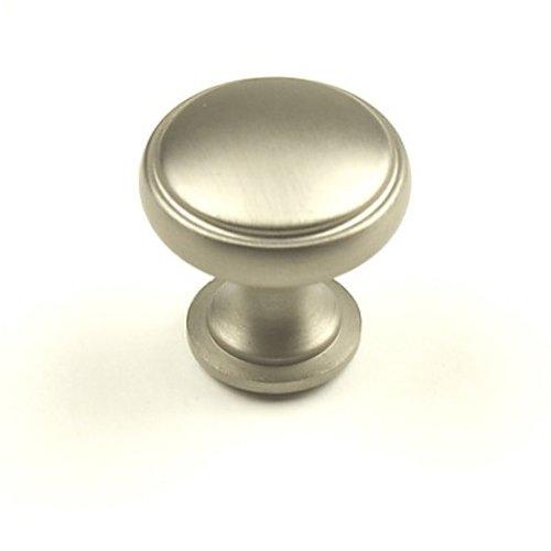 Century Hardware Regal 1-3/16 Inch Diameter Dull Satin Nickel Cabinet Knob 22205-DSN