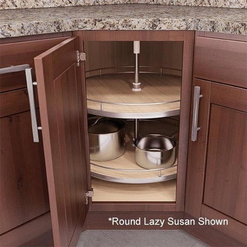 "Vauth Sagel Recorner Susan Kidney Lazy Susan 28"" Maple 9000 2526"