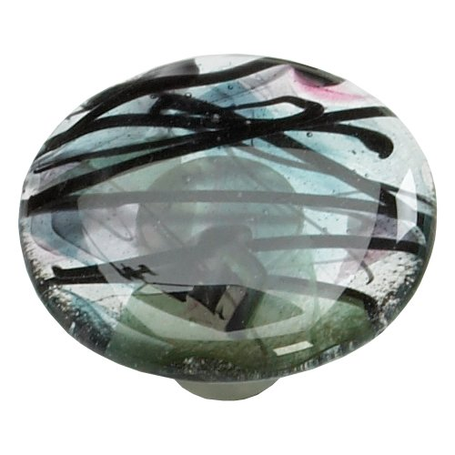 Schaub and Company Ice 1-1/2 Inch Diameter Confetti/Turquoise Cabinet Knob 31-COT