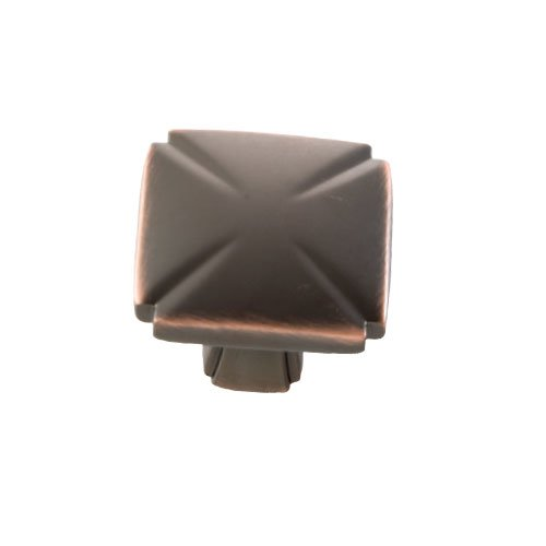 Hickory Hardware Bridges 1-3/16 Inch Diameter Oil Rubbed Bronze Highlighted Cabinet Knob P3230-OBH