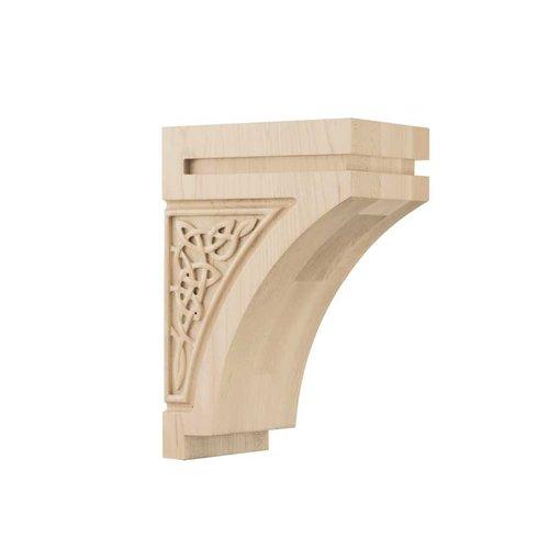 Brown Wood Gaelic Medium Corbel Unfinished Hard Maple 01600928HM1