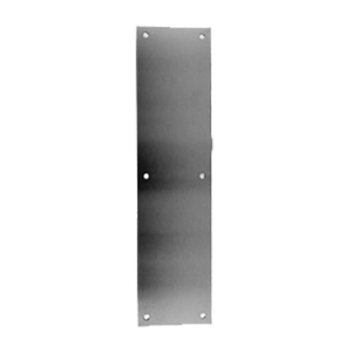 Don-Jo 6 inch x 16 inch Door Push Plate Satin Stainless Steel 79-630