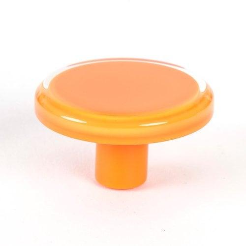 R. Christensen Next 2 Inch Diameter Orange Transparent Cabinet Knob 9785-7000-P
