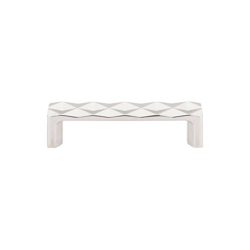 Top Knobs Mercer 3-3/4 Inch Center to Center Polished Nickel Cabinet Pull TK561PN