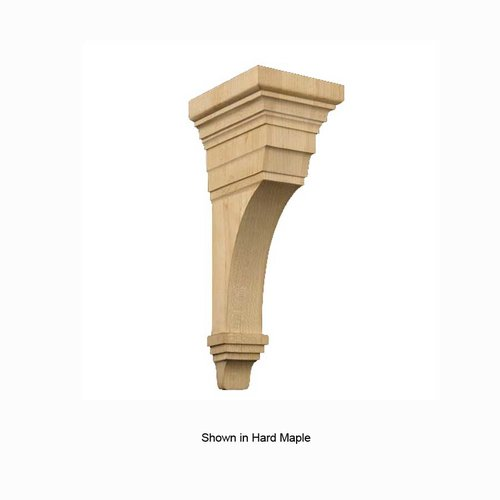 Brown Wood Large Arts & Crafts Corbel Unfinished Paint Grade 01607010PT1
