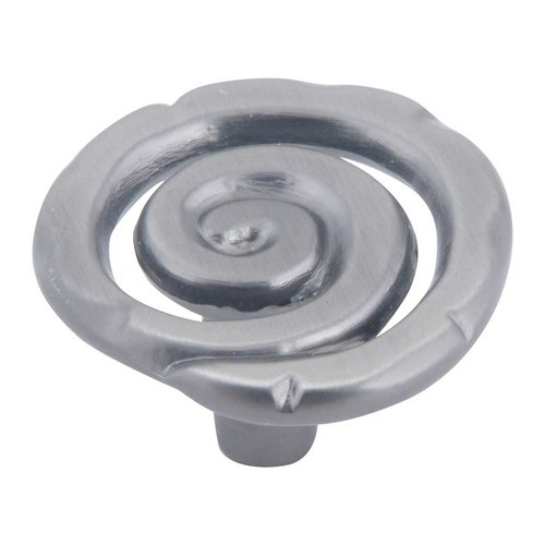 Atlas Homewares Scroll 1-1/2 Inch Diameter Pewter Cabinet Knob 140-P