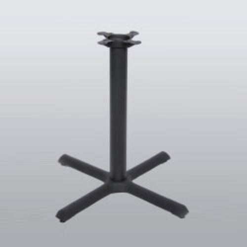 "Peter Meier Table Base 22"" x 22"" End Style X 40"" High-Black Matte Finish 2022-40-MT"