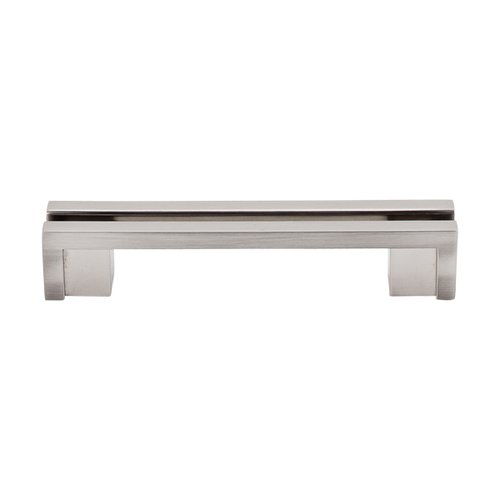 Top Knobs Sanctuary 3-1/2 Inch Center to Center Brushed Satin Nickel Cabinet Pull TK55BSN