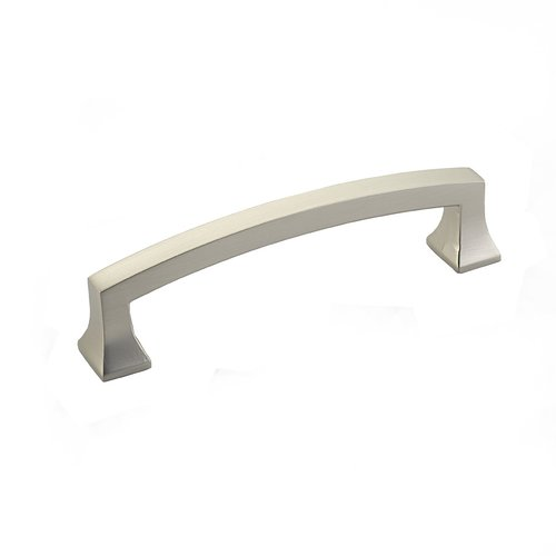 Menlo Park 4 Inch Center to Center Satin Nickel Cabinet Pull <small>(#542-15)</small>