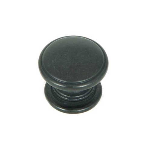 Stone Mill Hardware Princeton 1-1/4 Inch Diameter Antique Black Cabinet Knob CP80980-BA