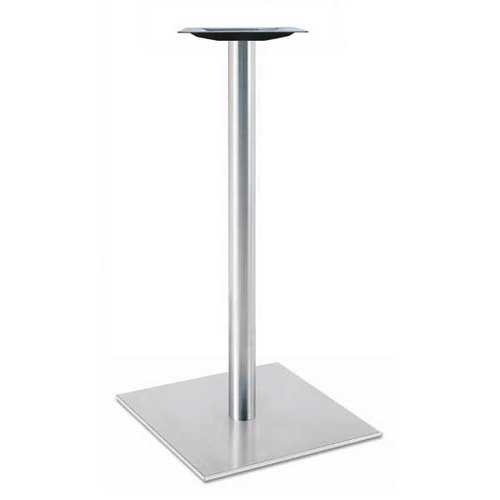 "Peter Meier 17"" Square Table Base - Stainless Steel 28-5/8"" H 5017-28-SS"