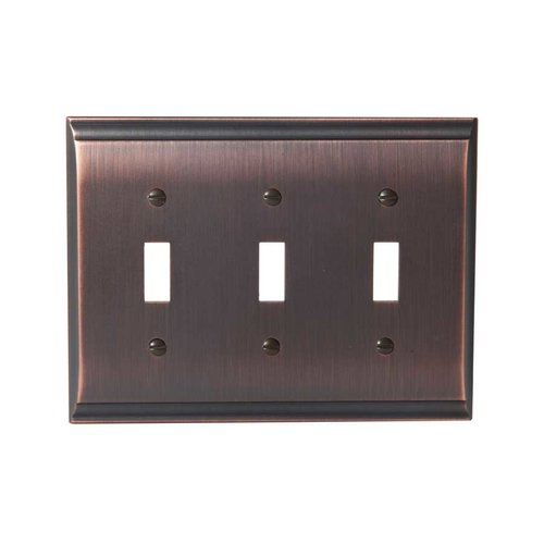 Amerock Candler Three Toggle Wall Plate Oil Rubbed Bronze BP36502ORB