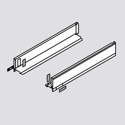 "Legrabox M 14"" Drawer Profile Left/Right Stainless Steel <small>(#770M3502I)</small>"