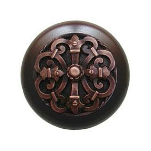 Notting Hill Olde World 1-1/2 Inch Diameter Antique Copper Cabinet Knob NHW-776W-AC