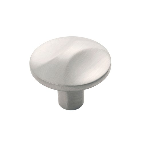 "Crest Knob 1-1/4"" Dia Satin Nickel <small>(#H076128-SN)</small>"
