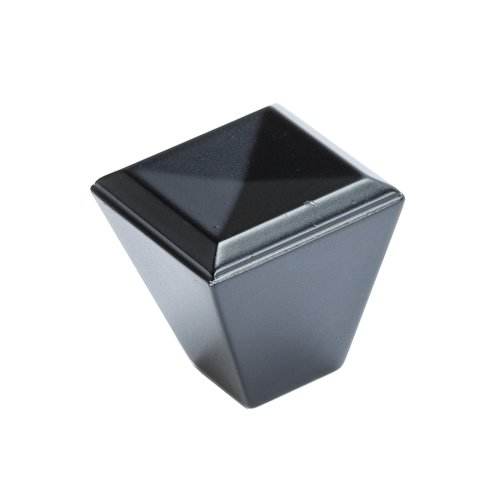 Connections 1-1/8 Inch Length Matte Black Cabinet Knob <small>(#4008-1055-P)</small>