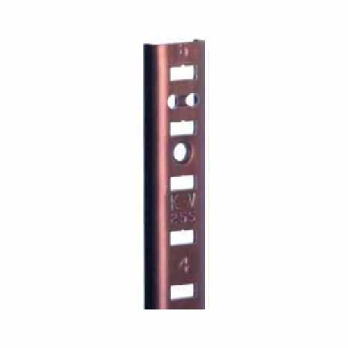 "Knape and Vogt KV #255 Aluminum Pilaster Strip Walnut 60"" 255AL WAL 60"