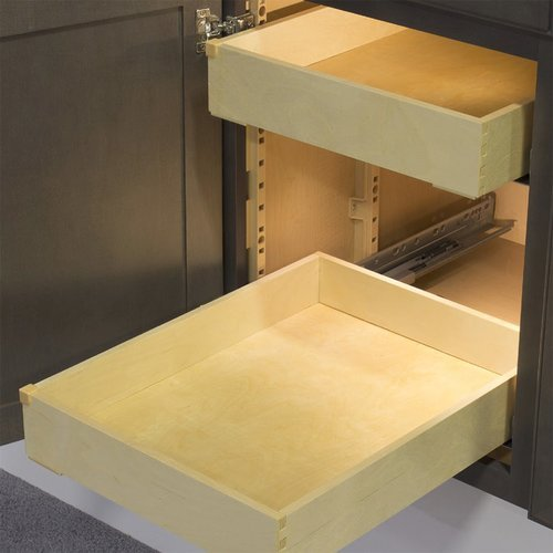 Kitchen Cabinet Drawer Kits: Tenn-Tex QuikTRAY Two Drawer Kit For 15 Inch Cabinets QT