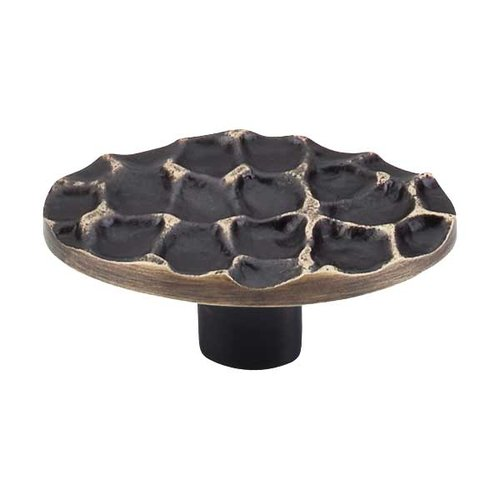 Top Knobs Cobblestone 2-5/8 Inch Diameter Brass Antique Cabinet Knob TK299BA