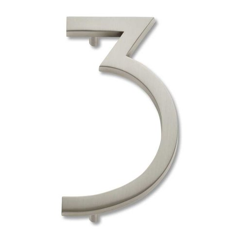 Atlas Homewares Modern Avalon House Number Three Brushed Nickel AVN3-BRN