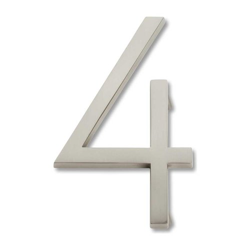 Atlas Homewares Modern Avalon House Number Four Brushed Nickel AVN4-BRN