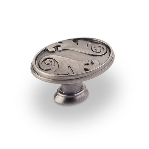 Jeffrey Alexander Regency 1-9/16 Inch Diameter Bright Nickel Brushed with Dull Lacquer Cabinet Knob 1097BNBDL