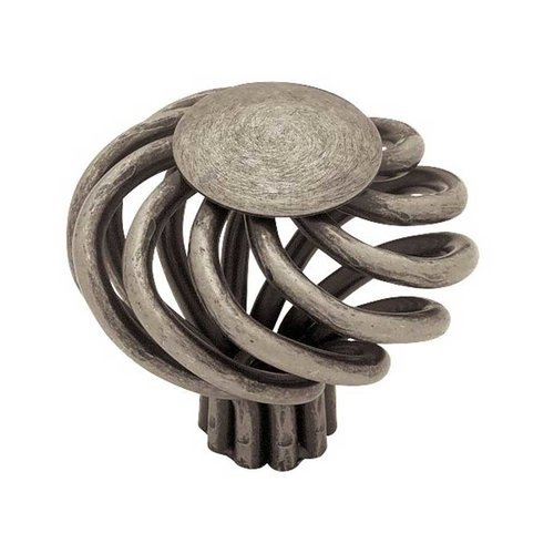 Forged Iron 1-9/16 Inch Diameter Antique Pewter Cabinet Knob <small>(#PN9010-AP-C)</small>