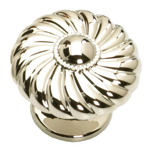 Schaub and Company Casual Elegance 1-3/8 Inch Diameter Polished Nickel Cabinet Knob 873-PN
