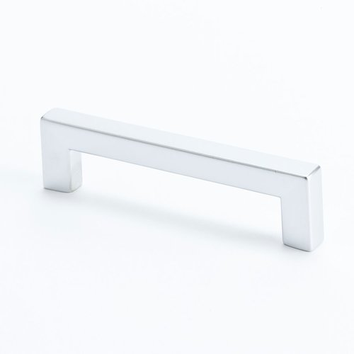 R. Christensen Square 3-3/4 Inch Center to Center Dull Chrome Cabinet Pull 9289-10DC-C